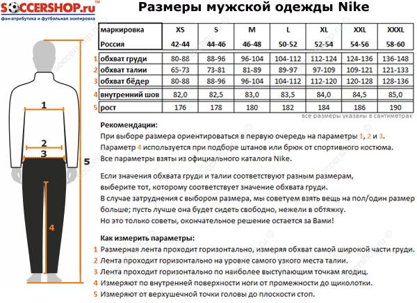Таблица размеров Nike. Размеры Найк.